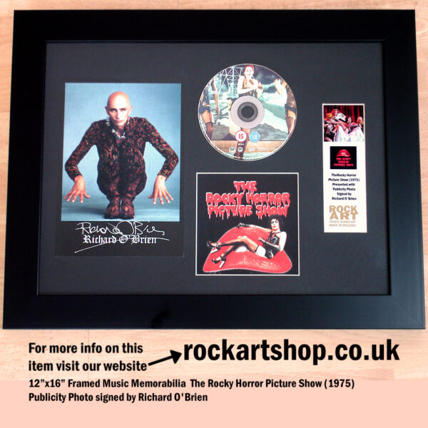 ROCKY HORROR SHOW SIGNED RICHARD OBRIEN FILM MEMORABILIA