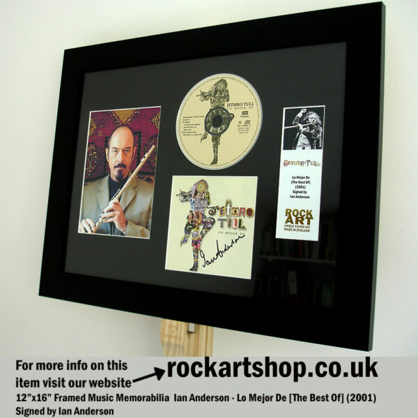 JETHRO TULL CD SIGNED BY IAN ANDERSON FRAMED MUSIC MEMORABILIA