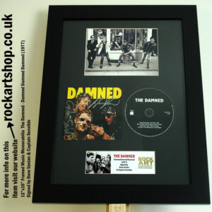 THE DAMNED DEBUT ALBUM SIGNED DAVE VANIAN + CAPTAIN SENSIBLE