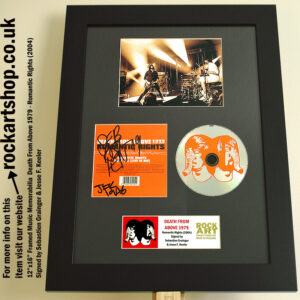 DEATH FROM ABOVE 1979 AUTOGRAPHED ROMANTIC RIGHTS CD