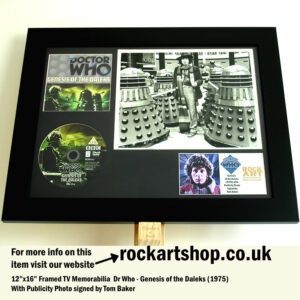 DR WHO GENESIS OF THE DALEKS PHOTO AUTOGRAPHED BY TOM BAKER