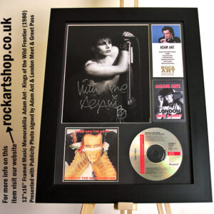 ADAM & THE ANTS SIGNED KINGS OF THE WILD FRONTIER CD AUTOGRAPHED