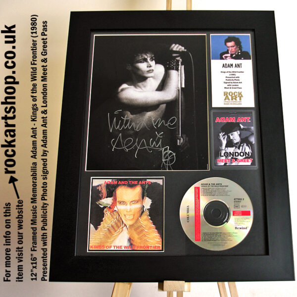 ADAM ANT SIGNED KINGS OF THE WILD FRONTIER CD AUTOGRAPHED