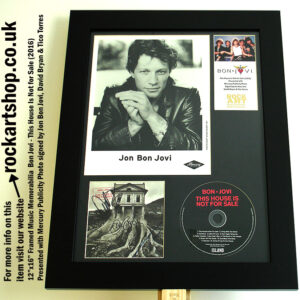 BON JOVI THIS HOUSE IS NOT FOR SALE SIGNED BY JON+DAVID+TICO