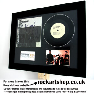 THE FUTUREHEADS SIGNED SKIP TO THE END AUTOGRAPHED VINYL