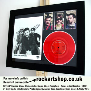 MANIC STREET PREACHERS ROSES SIGNED VINYL JAMES NICKY SEAN