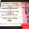 Queen Ticket Wembley Arena 1984