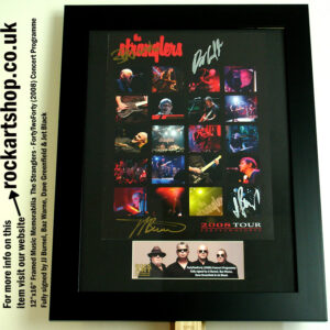THE STRANGLERS FULLY SIGNED JJ BURNEL +JET BLACK +DAVE+BAZ