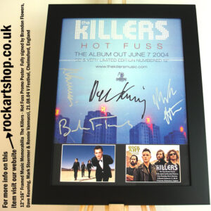 THE KILLERS HOT FUSS FULLY SIGNED BRANDON DAVE MARK RONNIE