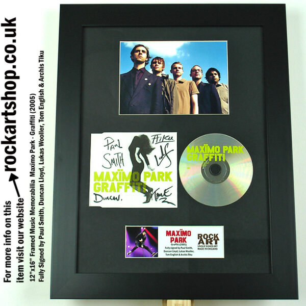 MAXIMO PARK GRAFFITI CD SIGNED BY ALL 5 PAUL SMITH AUTOGRAPH