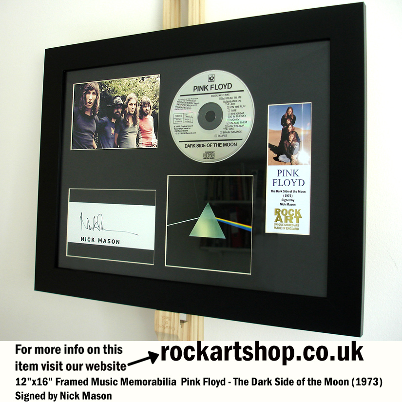 PINK FLOYD DARK SIDE OF THE MOON AUTOGRAPHED NICK MASON