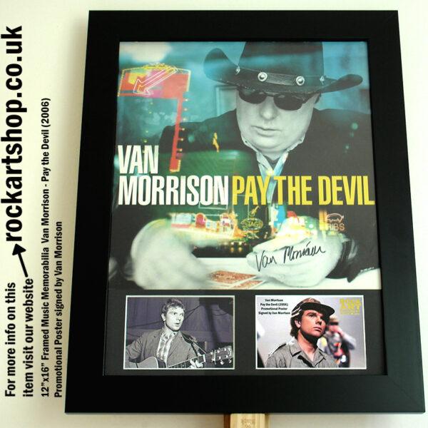 VAN MORRISON SIGNED PAY THE DEVIL PHOTO MUSIC MEMORABILIA