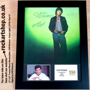CLIFF RICHARD GREEN LIGHT AUTOGRAPHED LP MUSIC MEMORABILIA