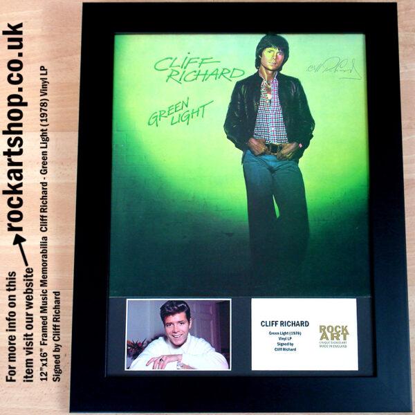 CLIFF RICHARD GREEN LIGHT AUTOGRAPHED LP MUSIC MEMORABILIA