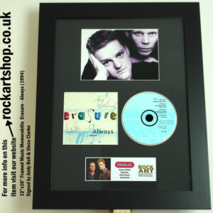 ERASURE ALWAYS CD SIGNED BY VINCE CLARKE & ANDY BELL
