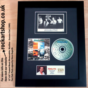 MARILLION SEASONS END FAN CLUB PHOTO SIGNED BY STEVE HOGARTH