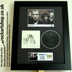 COLDPLAY A RUSH OF BLOOD TO THE HEAD SIGNED BY CHRIS MARTIN
