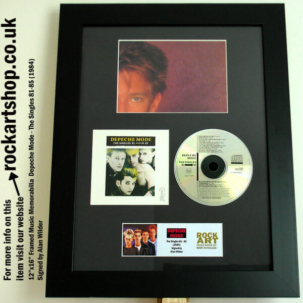 DEPECHE MODE SINGLES 81-85 CD AUTOGRAPHED BY ALAN WILDER