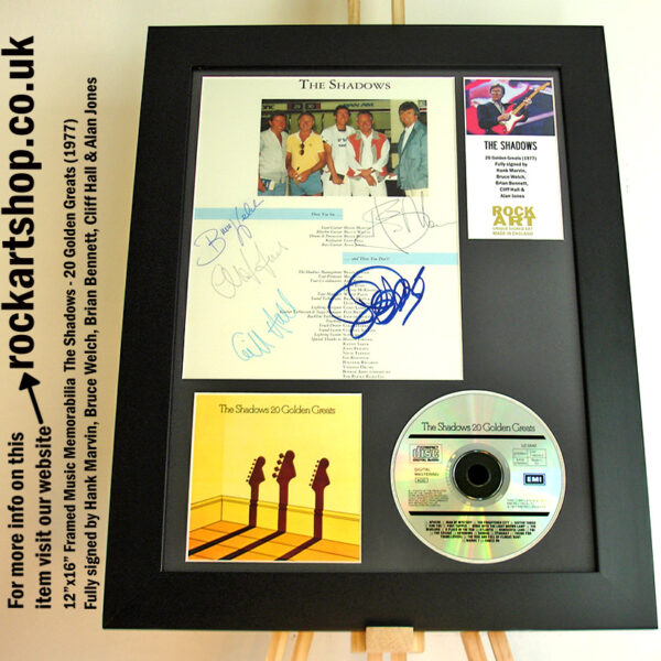THE SHADOWS AUTOGRAPHED HANK MARVIN BRUCE BRIAN CLIFF ALAN