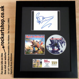 IRON MAIDEN THE TROOPER SINGLE AUTOGRAPHED BY BRUCE DICKINSON
