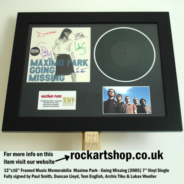"MAXIMO PARK GOING MISSING 7"" VINYL SIGNED BY ALL 5 PAUL SMITH"
