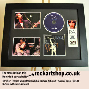 RICHARD ASHCROFT SIGNED NATURAL REBEL