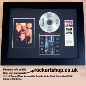 DEPECHE MODE BLACK CELEBRATION AUTOGRAPHED BY MARTIN GORE