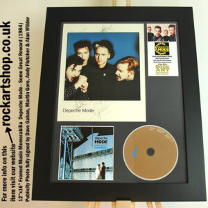 DEPECHE MODE PHOTO SIGNED DAVE GAHAN MARTIN GORE ANDY FLETCHER
