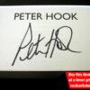 Joy Division Peter Hook Autograph
