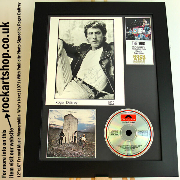THE WHO WHO'S NEXT PHOTO SIGNED BY ROGER DALTREY AUTOGRAPHED