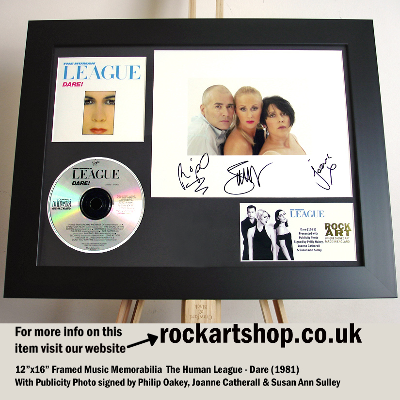 HUMAN LEAGUE DARE SIGNED PHIL OAKEY +JOANNE+SUSAN AUTOGRAPH