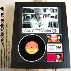 ADAM ANT ANTMUSIC SIGNED VINYL FRAMED PUNK MUSIC MEMORABILIA