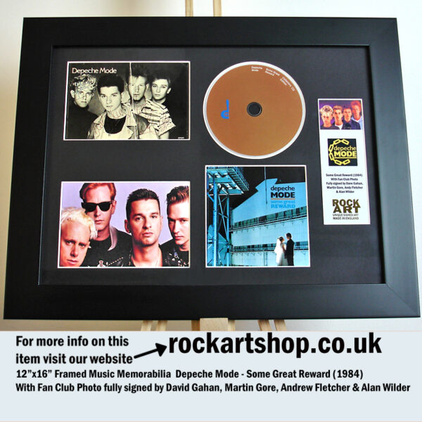 DEPECHE MODE SOME GREAT REWARD SIGNED DAVE MARTIN ANDY ALAN