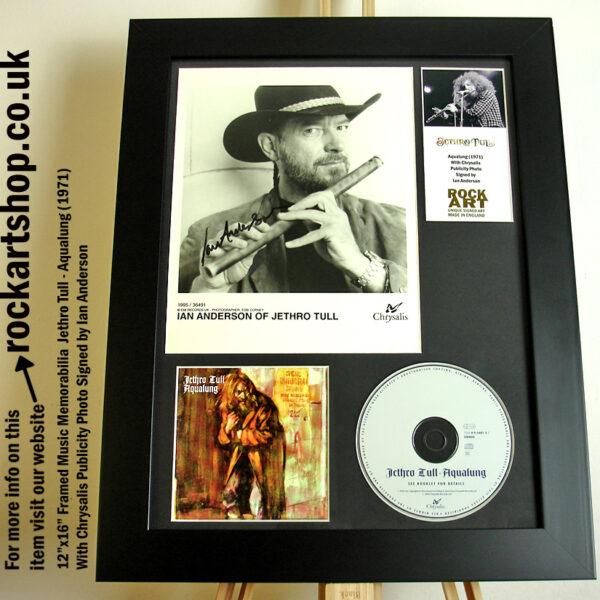 JETHRO TULL AQUALUNG SIGNED IAN ANDERSON PROG MUSIC MEMORABILIA