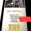 Jethro Tull Music Memorabilia