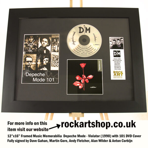 DEPECHE MODE SIGNED DAVE GAHAN ANDY ALAN ANTON AUTOGRAPHED
