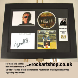 PAUL WELLER SIGNED STANLEY ROAD MUSIC MEMORABILIA AUTOGRAPHED