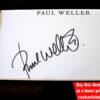 PAUL WELLER Autograph