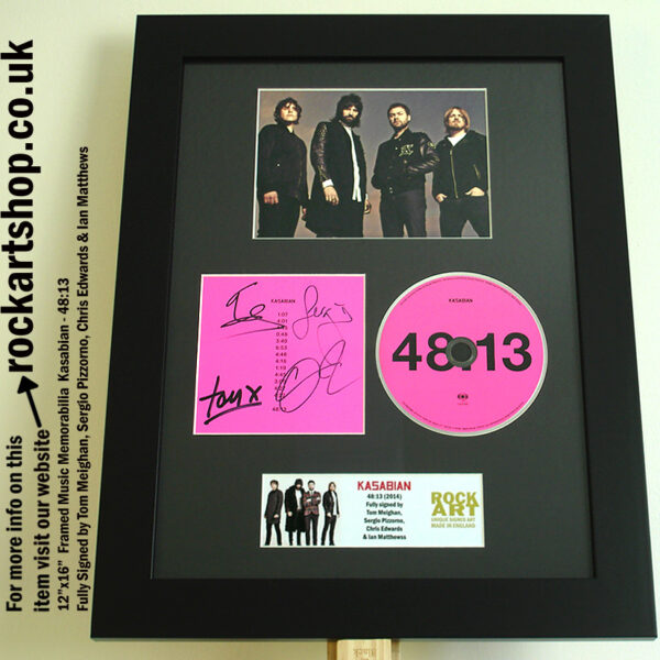 KASABIAN AUTOGRAPHED 48:13 FULLY AUTOGRAPHED SERGIO PIZZORNO