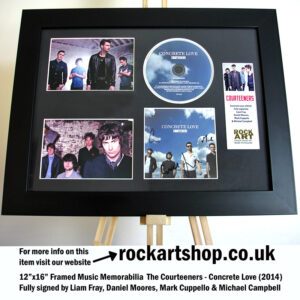 THE COURTEENERS CONCRETE LOVE FULLY SIGNED LIAM FRAY AUTOGRAPHED