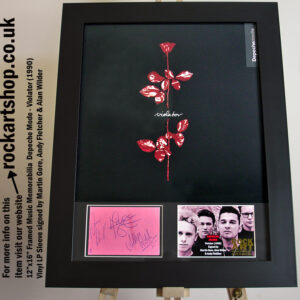 DEPECHE MODE VIOLATOR SIGNED BY MARTIN GORE AUTOGRAPHED