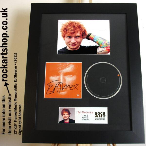 ED SHEERAN SIGNED +CD AUTOGRAPHED MUSIC MEMORABILIA A TEAM