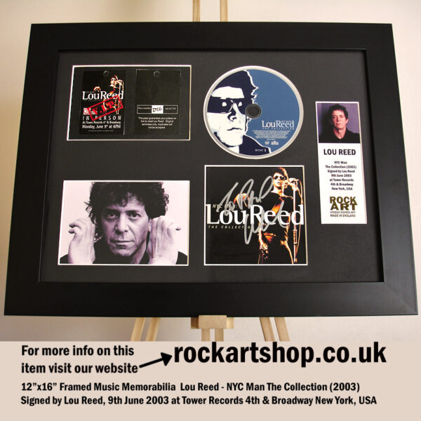 LOU REED CD AUTOGRAPHED NEW YORK 2003 SIGNED MUSIC MEMORABILIA