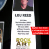 LOU REED AUTOGRAPHED MUSIC MEMORABILIA