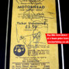Motörhead 1980 Fully Autographed Ticket