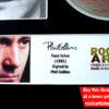 Phil Collins Autographed Music Memorabilia