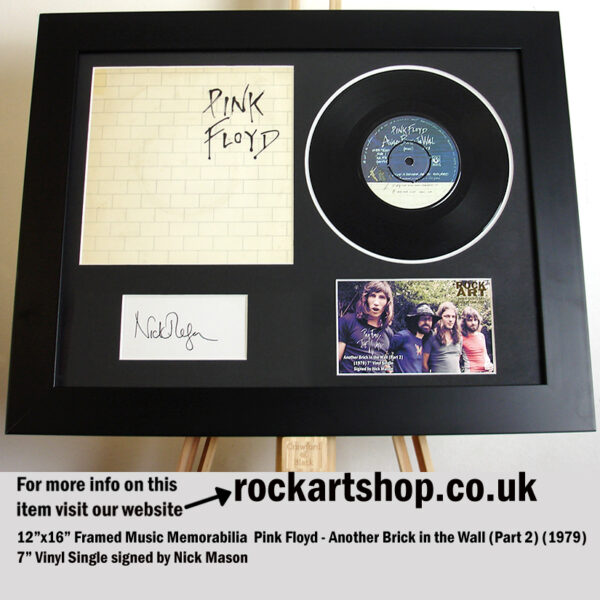 PINK FLOYD THE WALL VINYL SIGNED NICK MASON MUSIC MEMORABILIA