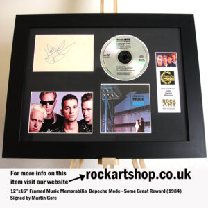 DEPECHE MODE SOME GREAT REWARD AUTOGRAPHED BY MARTIN GORE