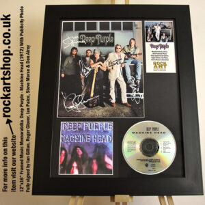 DEEP PURPLE MACHINE HEAD SIGNED IAN GILLAN +ROGER+IAN +STEVE+DON