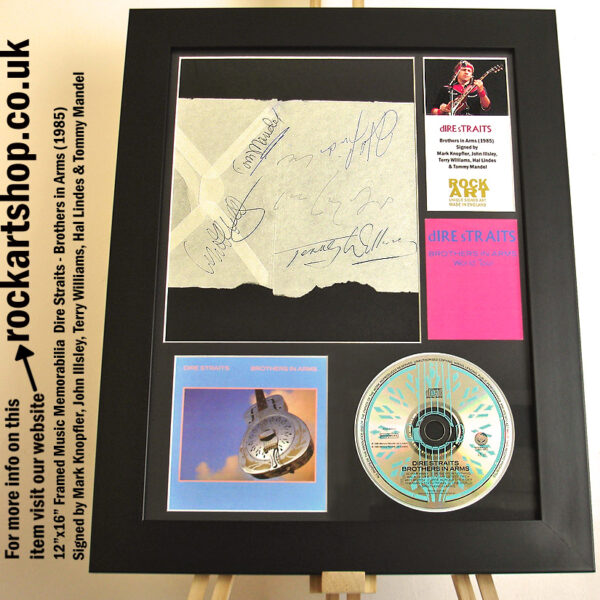 DIRE STRAITS BROTHERS SIGNED BY MARK KNOPFLER +4 BAND MEMBERS